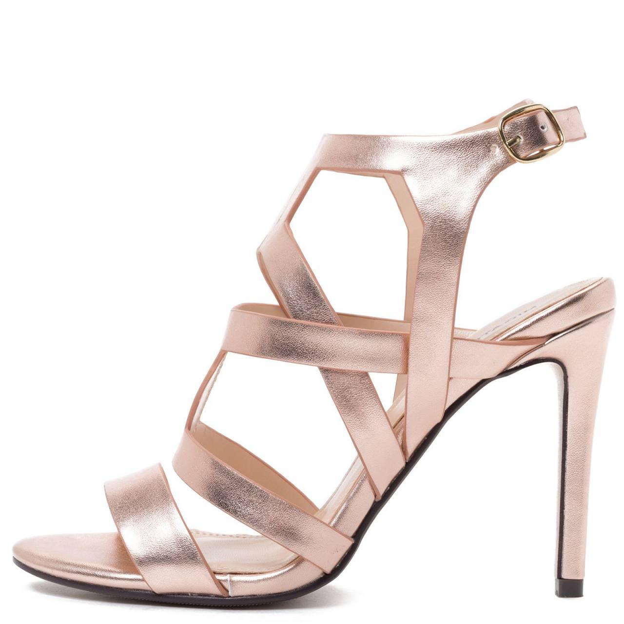 282b58273b Γυναικεία Νυφικά παπούτσια  Migato Ροζ χρυσό multistrap πέδιλο