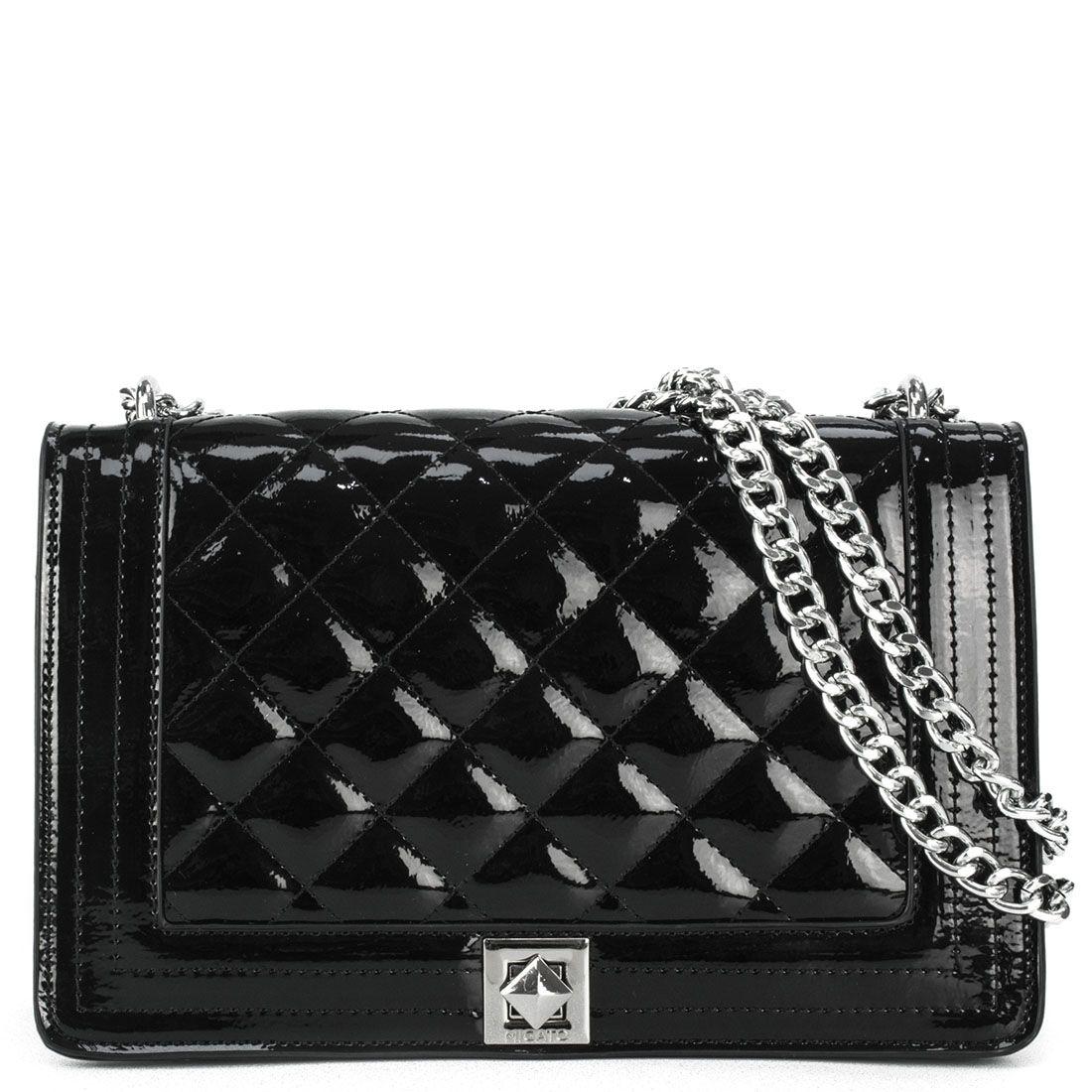 ead0304ee5 Τσάντες Βραδυνές Γυναικείες  Μαύρη καπιτονέ τσάντα λουστρίνι